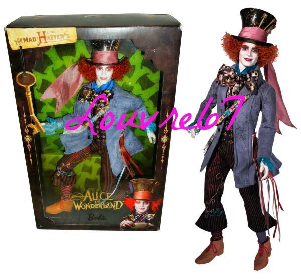 Barbie Mad Hatter Alice In Wonderland Johnny Depp