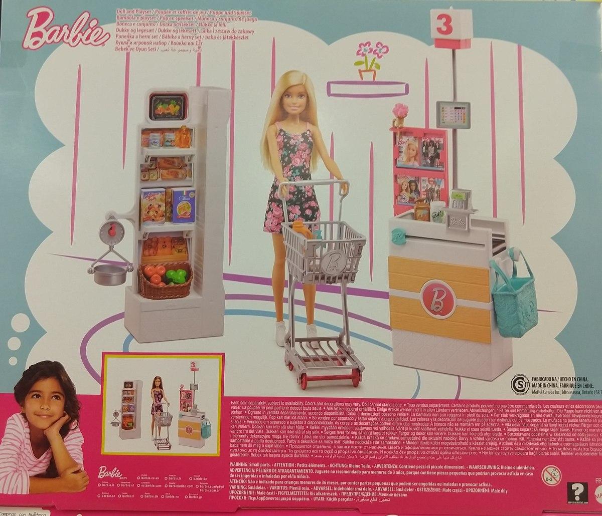 Barbie Set De Super Mercado 25 Accesorios   104900 en