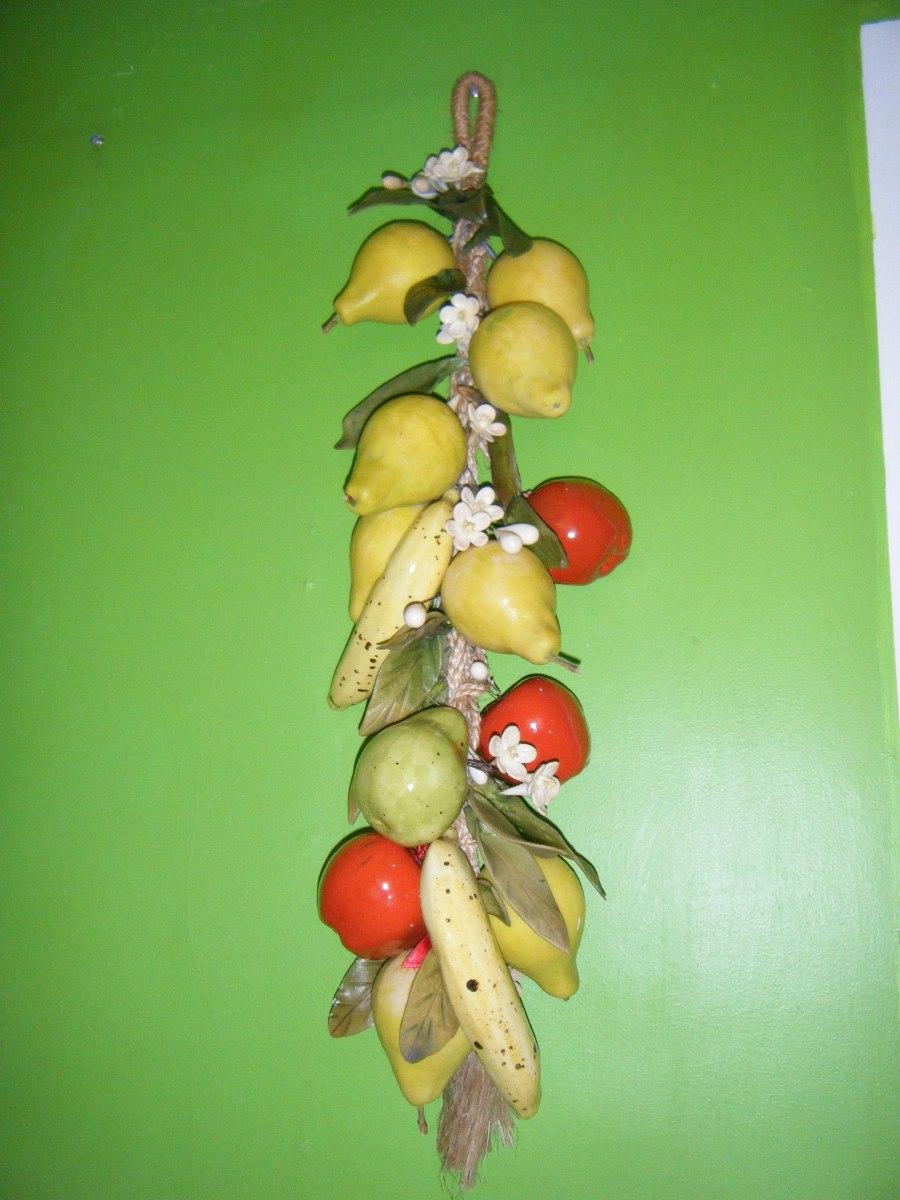 Bello Y Colorido Adorno Colgante De Frutas Para Tu Cocina
