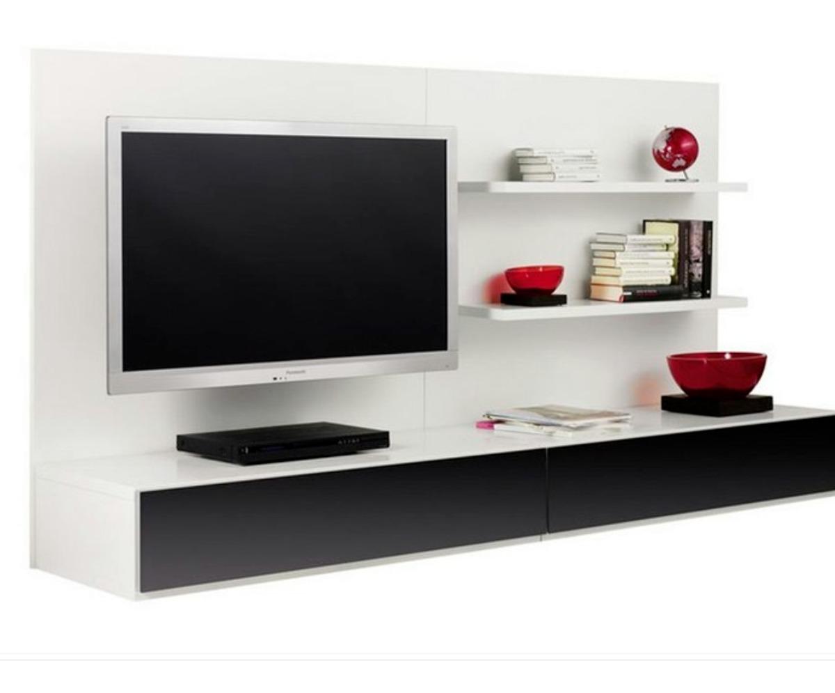 Biblioteca De Tv Mueble Tv Lcd Flotante Modulos 1 Y 2