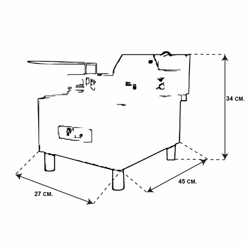 Blazer Fe-4.5 Freidor Electrico De Acero Inoxidable Xxfre