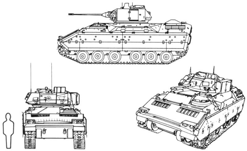Blindado Anti Tanque M2 / M3 Bradley Usa ,para Armar En 1