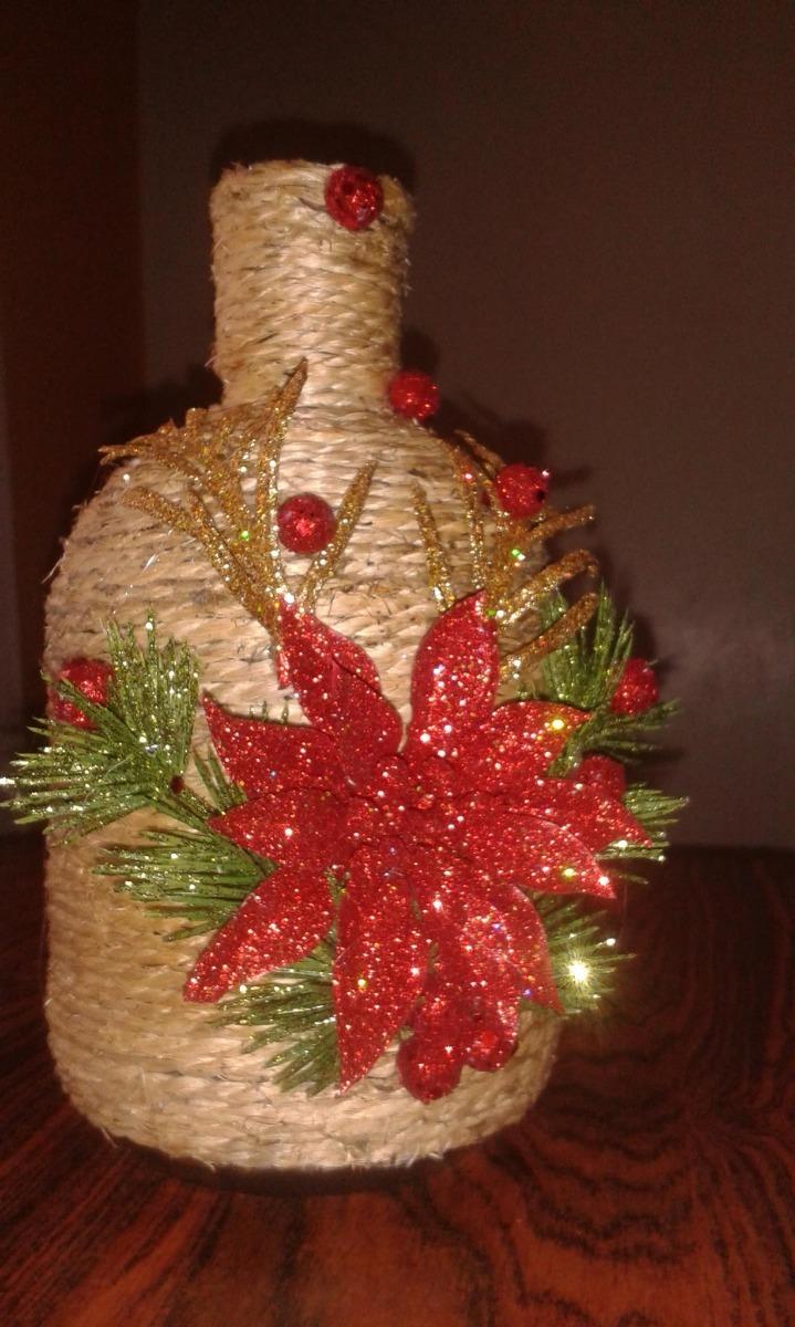 Botellas Decoradas Navidad Y Otros Eventos  Bs 1050000
