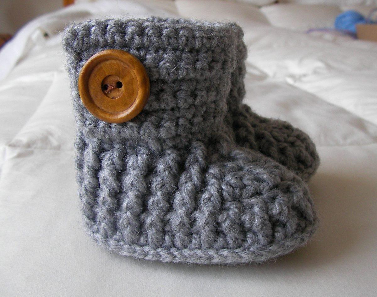 Botitas Para Beb Tejidas A Crochet Tallas 06 Meses   5