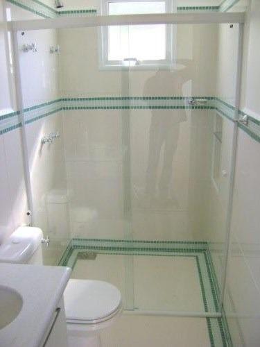 Box P Banheiro Vidro Temperado 8mm Incolor tipo