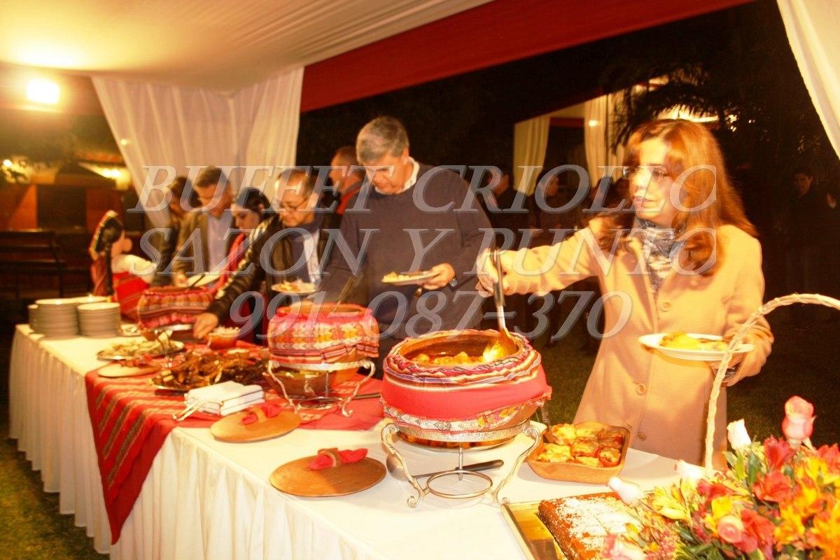 Buffet Criollo Catering Cumple Bautizo Evento A
