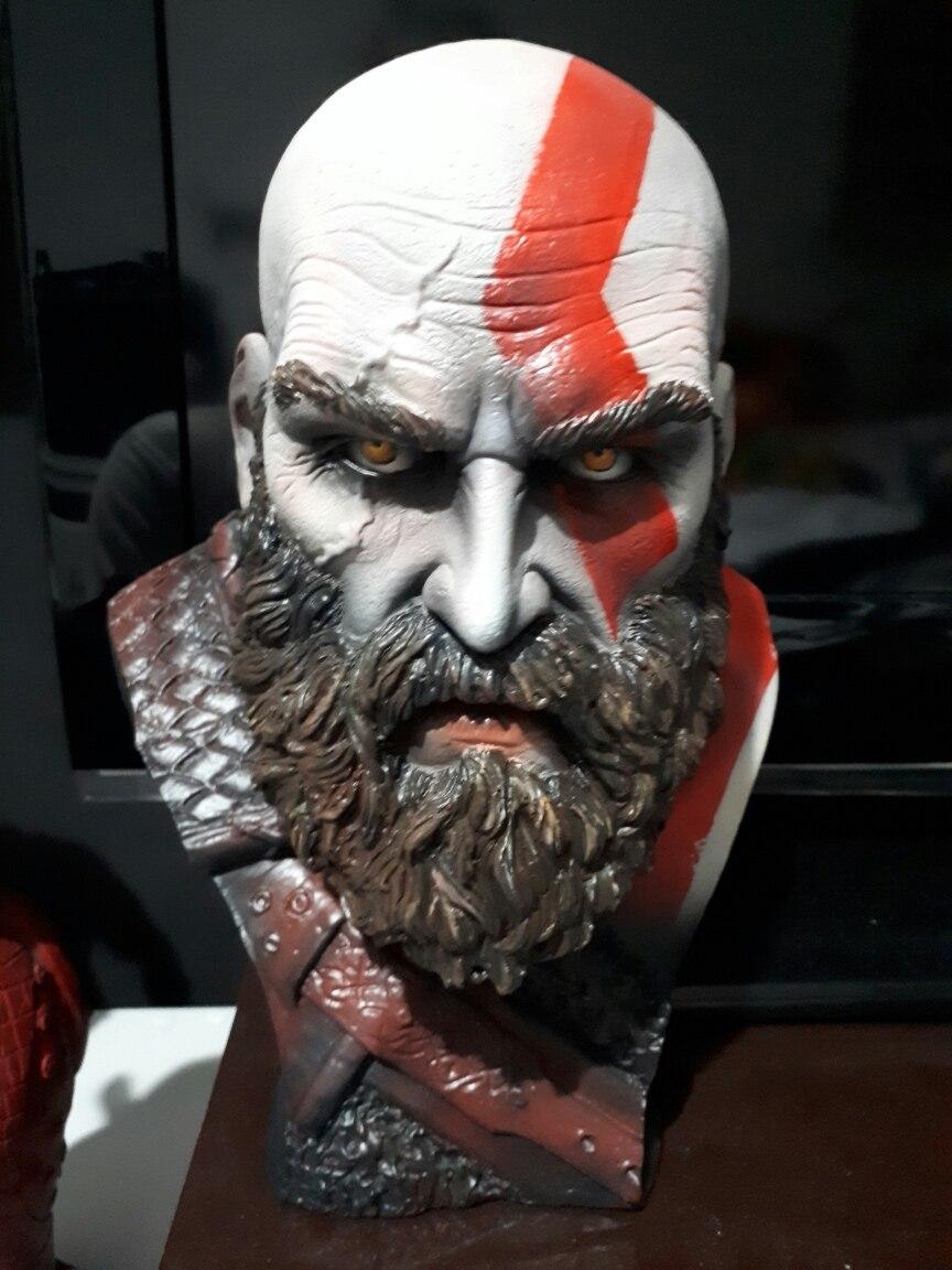 Busto Kratos God Of War 4 Estatua R 40000 Em Mercado Livre