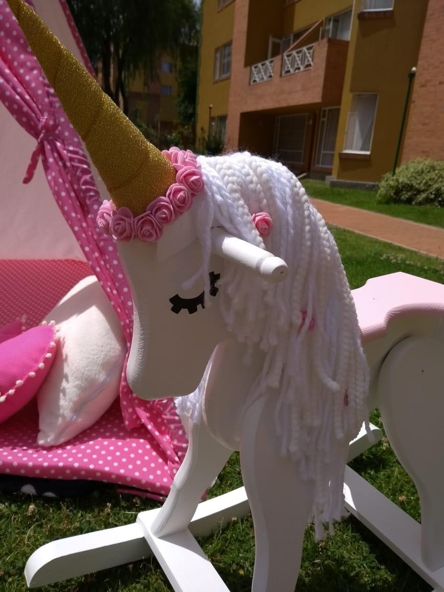 Caballo De Madera unicornio Mecedor Para Nios   250
