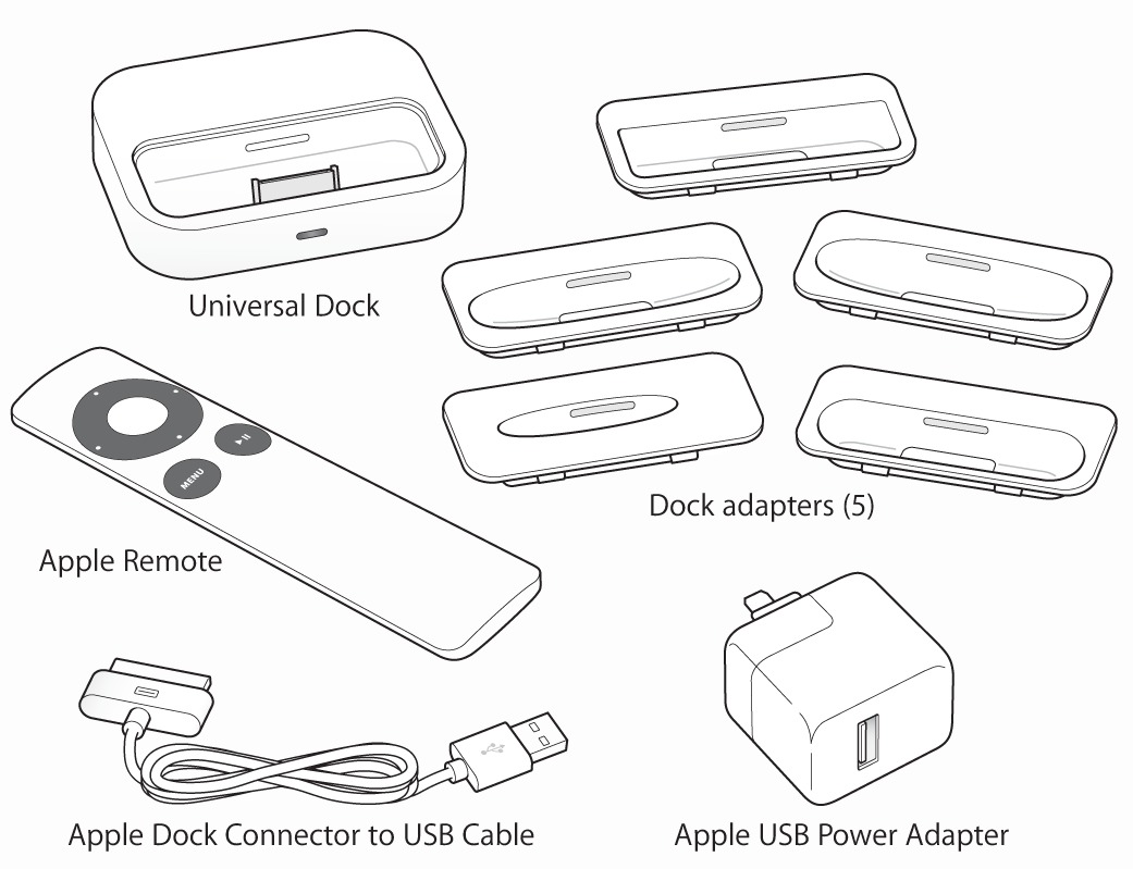 Apple Universal Dock Adaptadores Y Cable Apple Remote