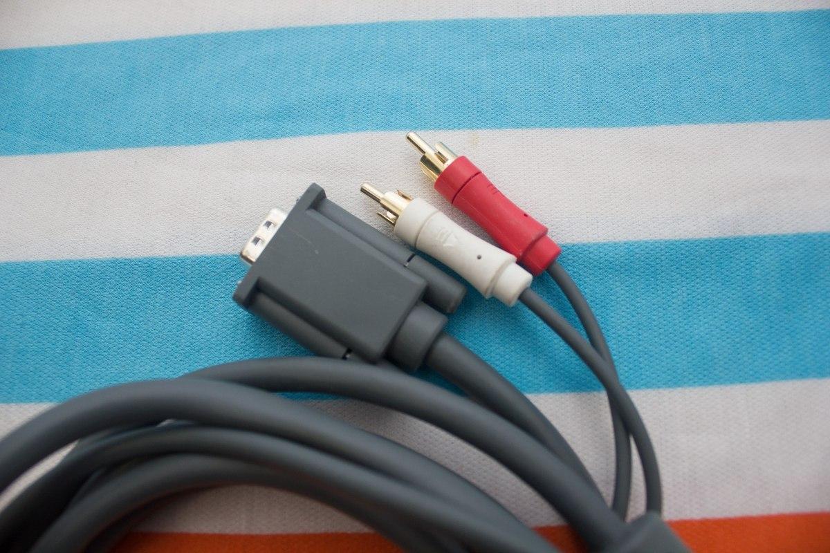 Cable Vga Xbox 360 Full Hd Monitor Audio Video Original 1080 29900 En Mercado Libre