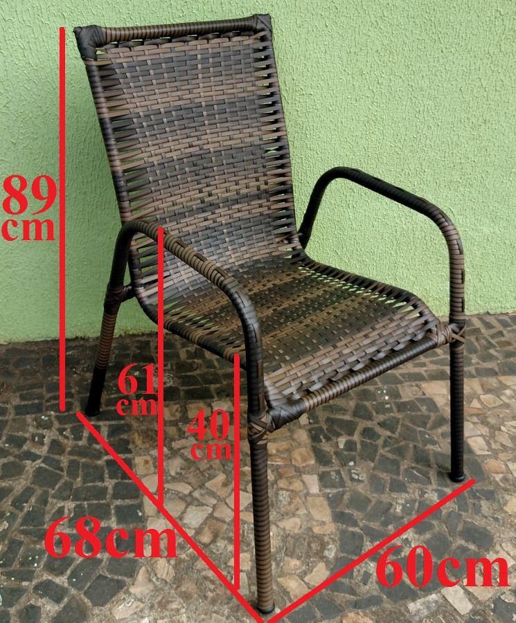 Cadeira Poltrona Area Varanda Junco Fibra Sinttica  R