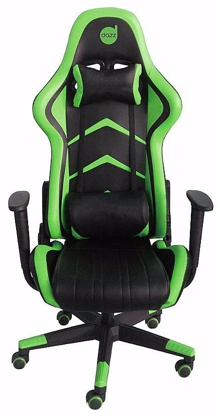 Cadeira Gamer Dazz Prime Green Com Inclinacao 624719  R