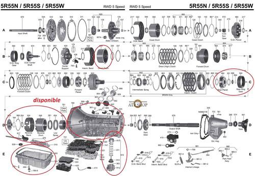 Caja 5r55w (partes) Ford Explorer,. Motor 4.0 Sohc 6 C