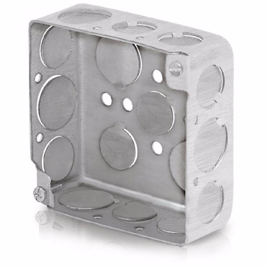 Caja Chalupa 4 X 4 Pulgadas Cuadrada 4x4 Acero Voltech 46321   1750 en Mercado Libre