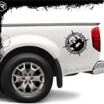 Rustick Oficial Calco Brujula 4x4 Ploteo Para Auto Camioneta Tunning Calcos 368 00