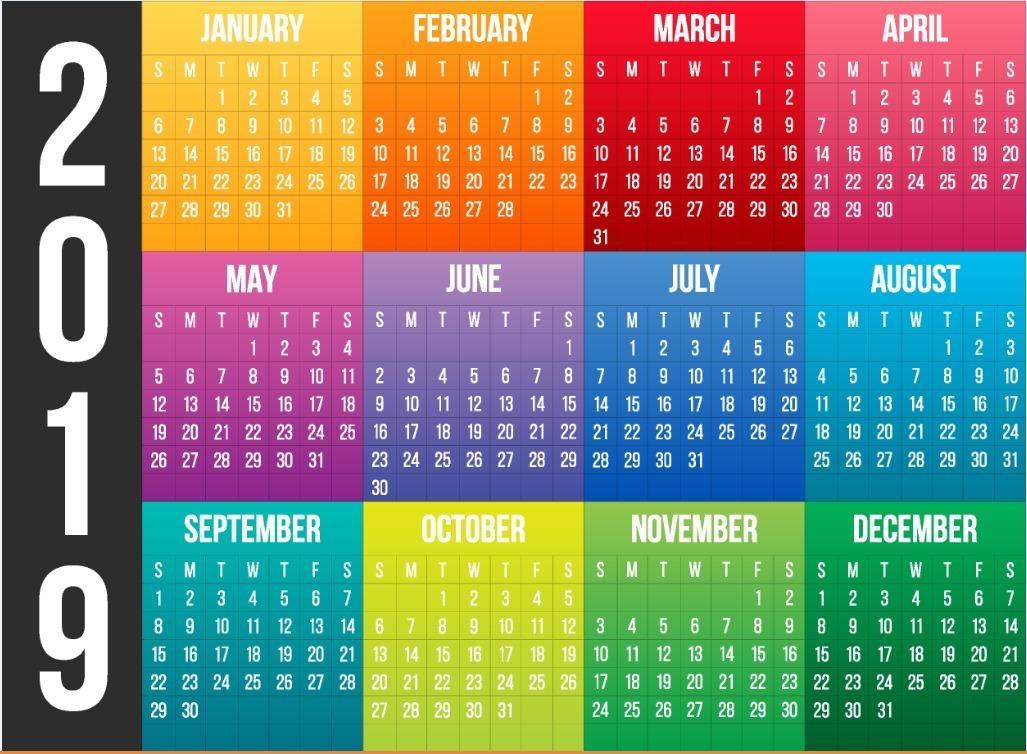 formato de calendarios