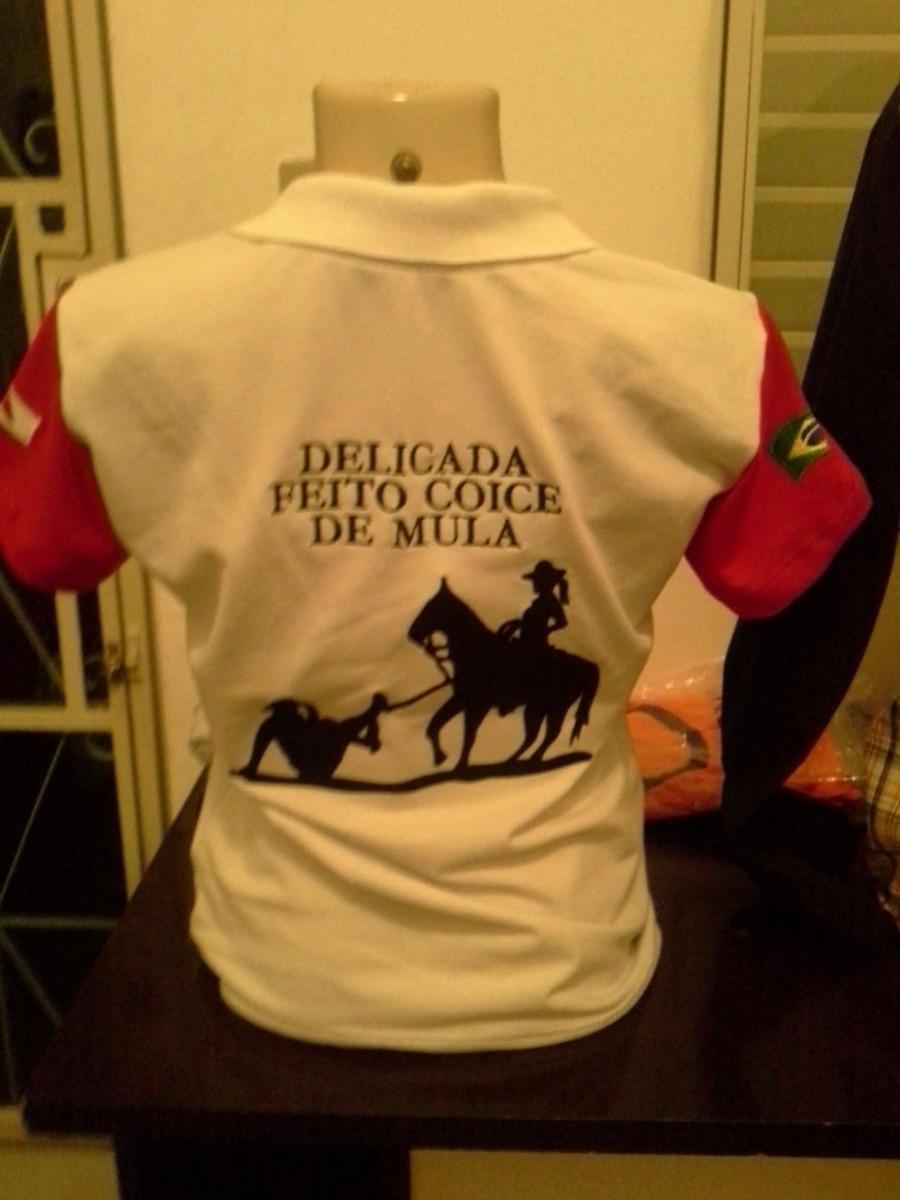Camisa Gola Polo Comitiva Personalizada Cavalgada Rodeio