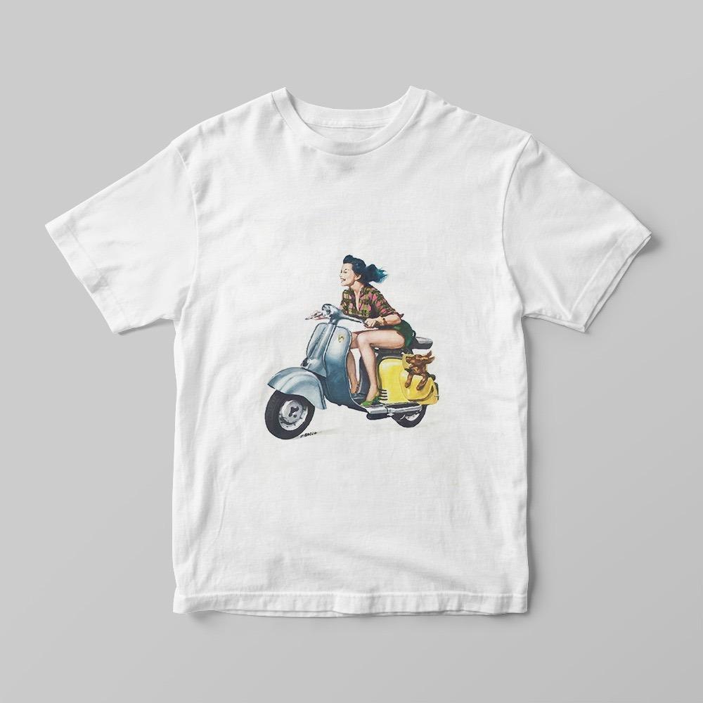 camiseta ecológica motociclista moto