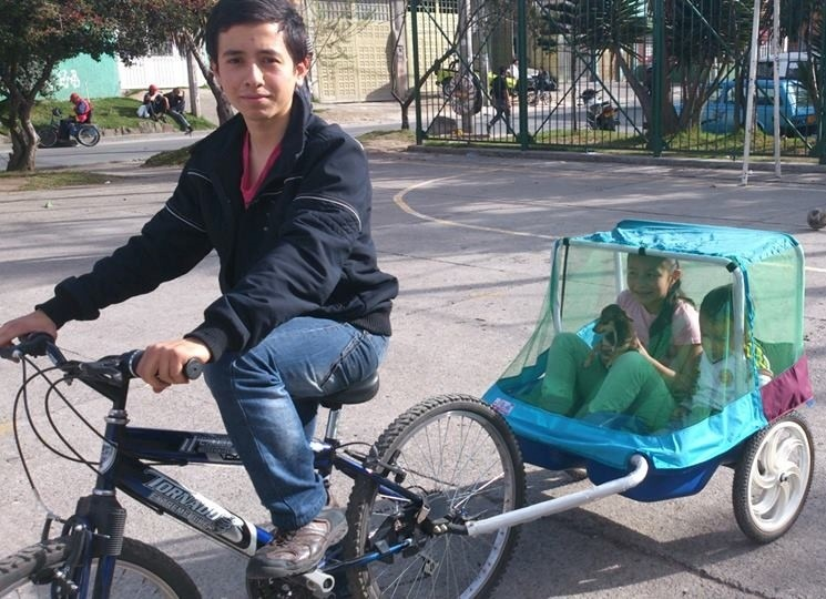 Carrito Trailer Remolque Para Bicicleta Para Nios O
