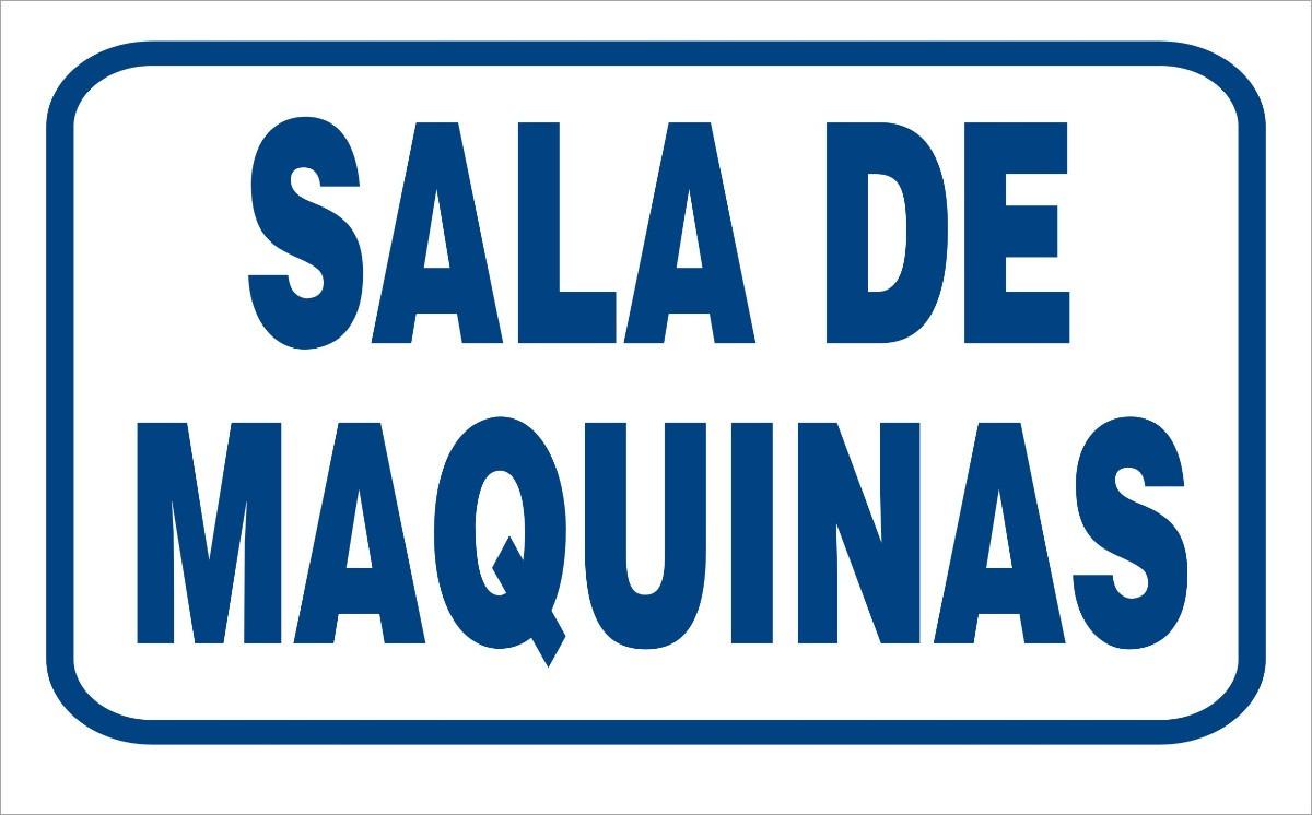 Cartel Edificios Sala De Caldera Maquinas Medidores 22x28