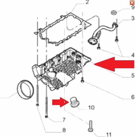 Carter De Oleo Punto Motor Etorq 1.6/1.8 16v (original