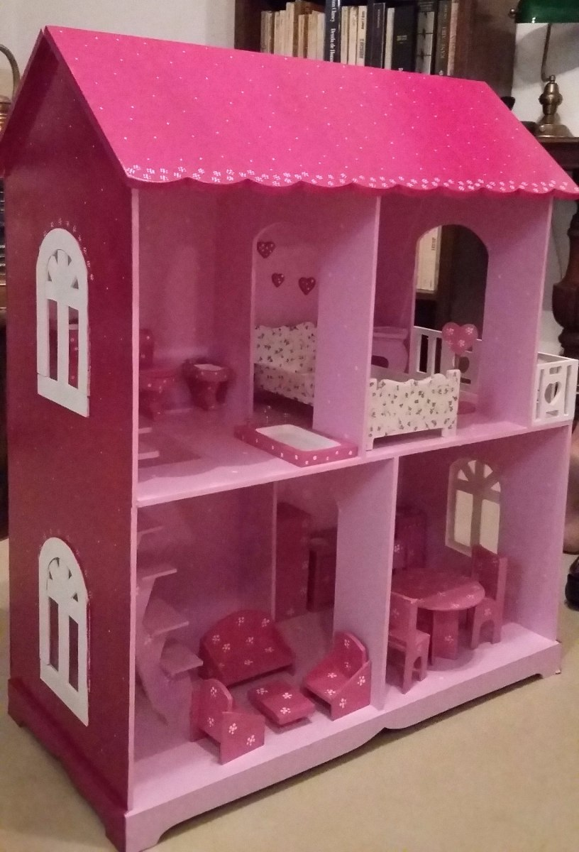 Casa De Muecas Con Muebles Para Barbies Envios Gratis