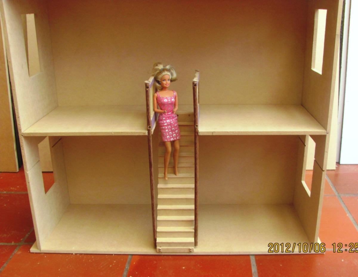 Casa Muecas Barbies Juguetes Madera Decoracion Tres Pisos   270000 en Mercado Libre