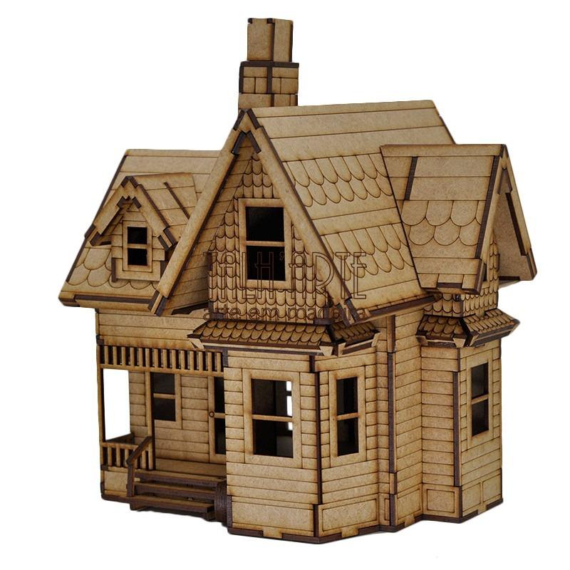 Casa Up Altas Aventuraspara Bonecas Miniatura Em Mdf  R 75000 em Mercado Livre