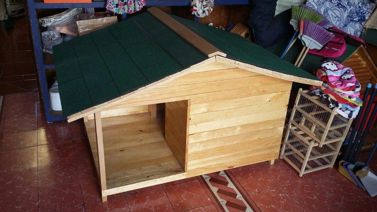 Casas Para Perro De Madera Natural No 3 Con Terraza   220000 en Mercado Libre