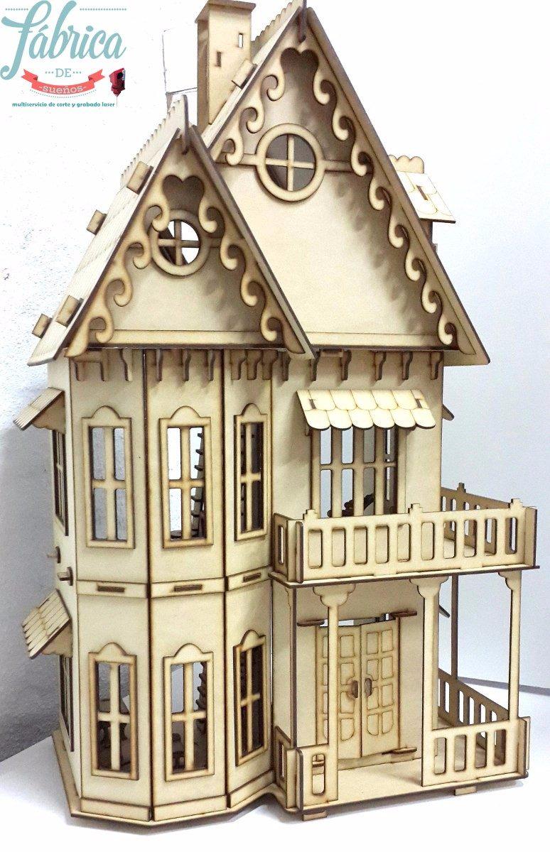 Casita De Muecas Fibrofacil Con 23 Muebles Casa Gotica