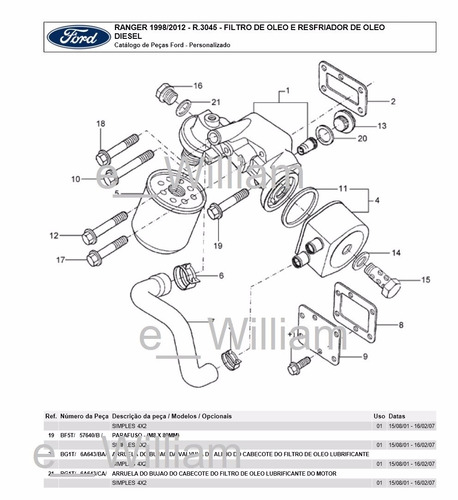 Catalogo Peças 3bb Ford Ranger Cab Simples 98/2012 V6 4.0l