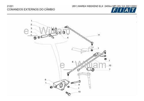 Catalogo Peças 651 Fiat Marea Weekend Elx 2.4l Gs 2001