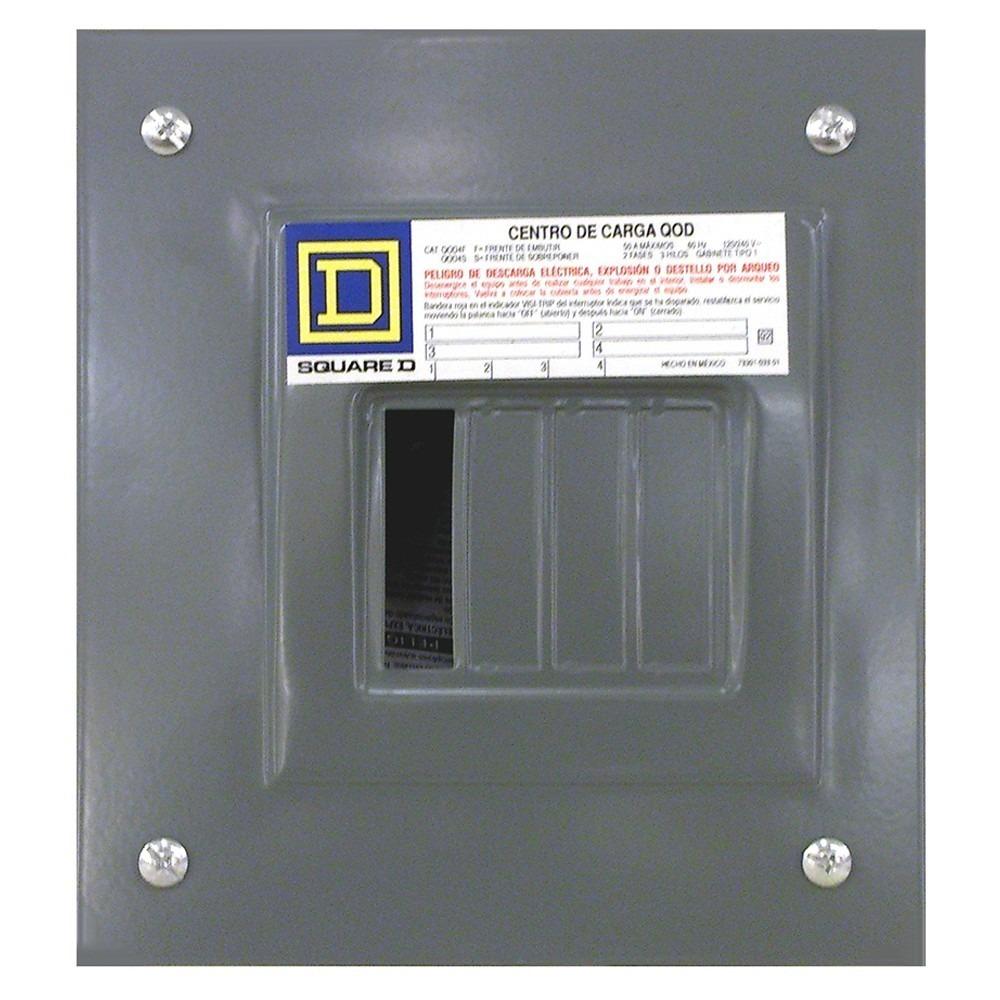 Centro De Carga Square D Qod4f Empotrar   32100 en