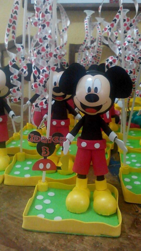 Centro De Mesa Mickey Mouse Fiestas Infantiles Recuerdos