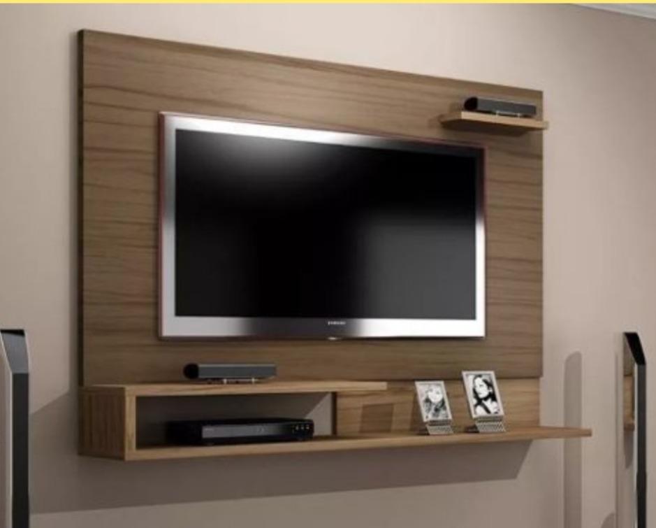 Centro Entretenimiento Tv 55 Dvd Mueble Repisa Flotante