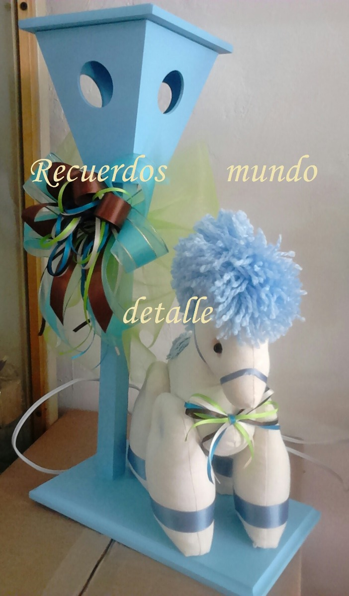 Centros De Mesa Bautizo Caballitos Animalitos Elegante