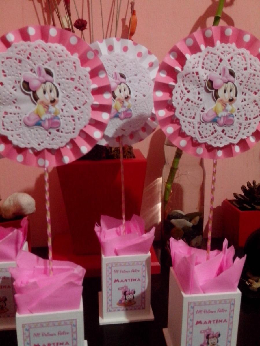 Centros De Mesa Infantil Minnie Bebe Rosa   8500 en