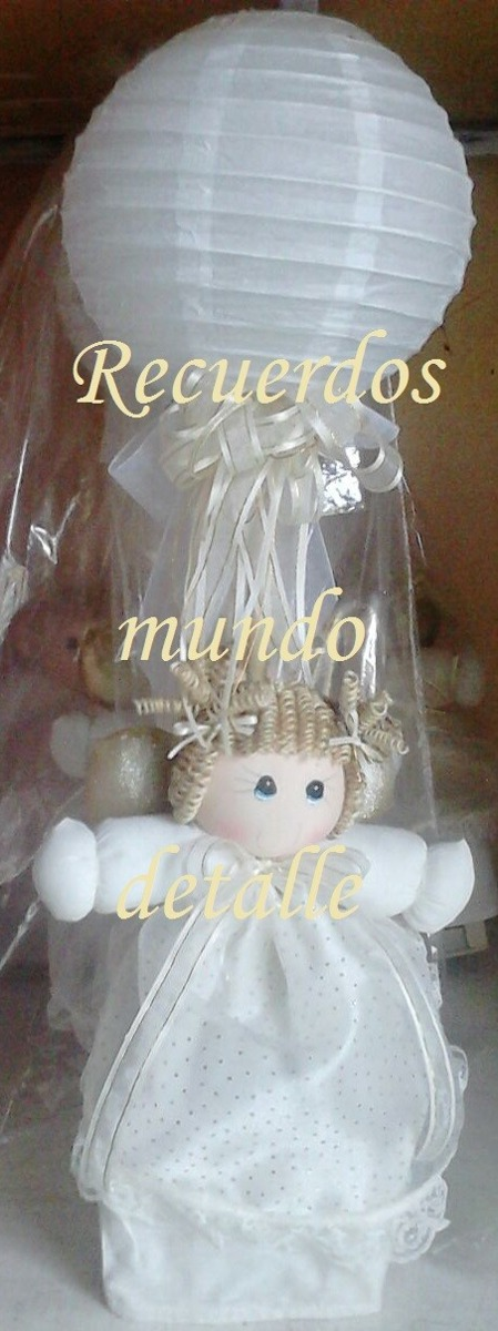 Lamparas Centros De Mesa Bautizo Baby Shower Angelitos