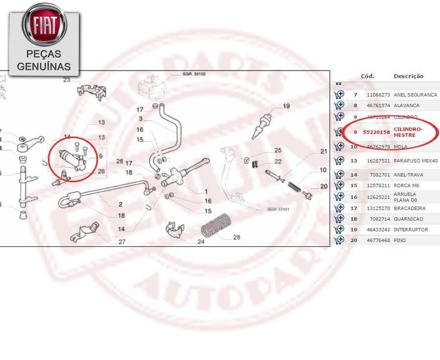 Cilindro De Embreagem Do Fiat Palio Evo/grand Siena 1.4