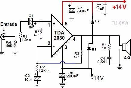 Circuito Integrado Tda 2030 Idem Tda2050 (kit De 2 Piezas