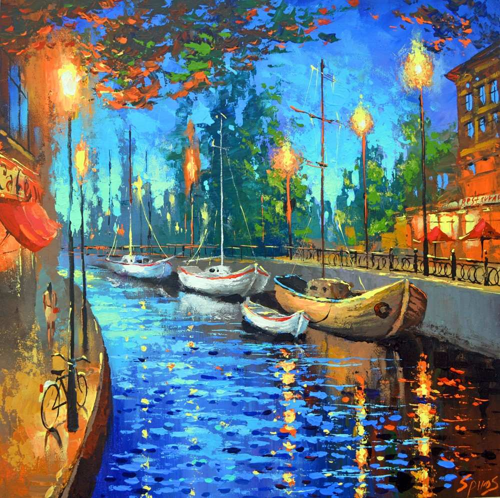 City Of My Dreams  Cuadros Pinturas De Dmitry Spiros