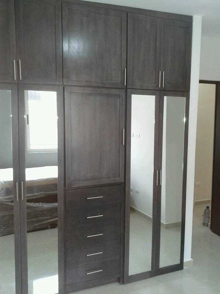 Closet Completo Con Puertas De Espejo Ancho De 220