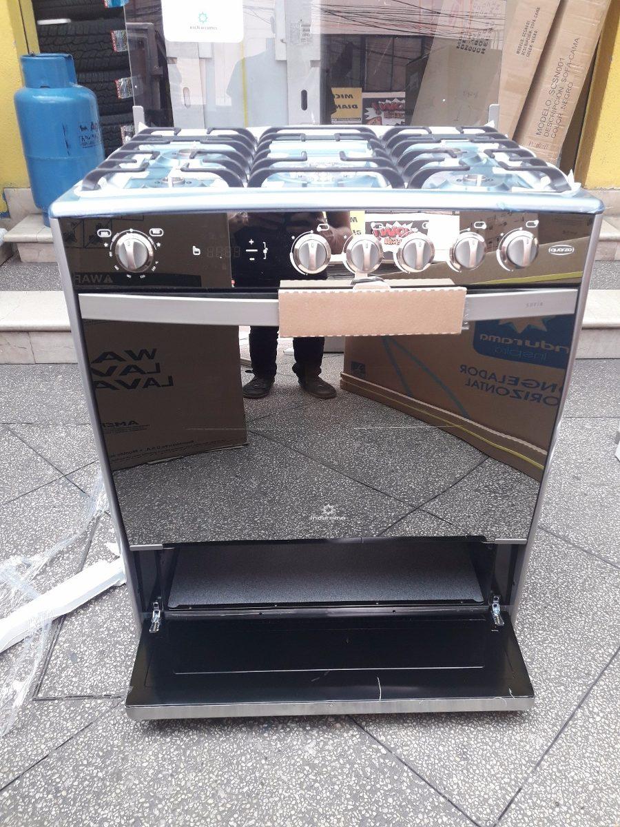 Cocina A Gas Indurama Sofia 32p 5quemadores Croma Grill