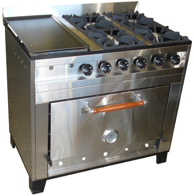 Cocina Industrial 4 Hornallas Y Plancha La Mejor Calidad