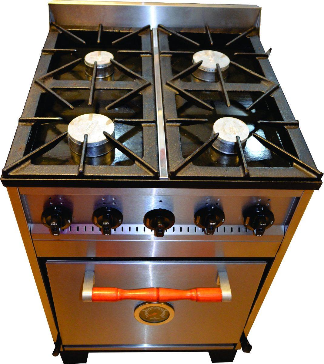 Cocina Industrial Familiar Tecno 4h 60cm Acero Inoxidable   1109900 en Mercado Libre