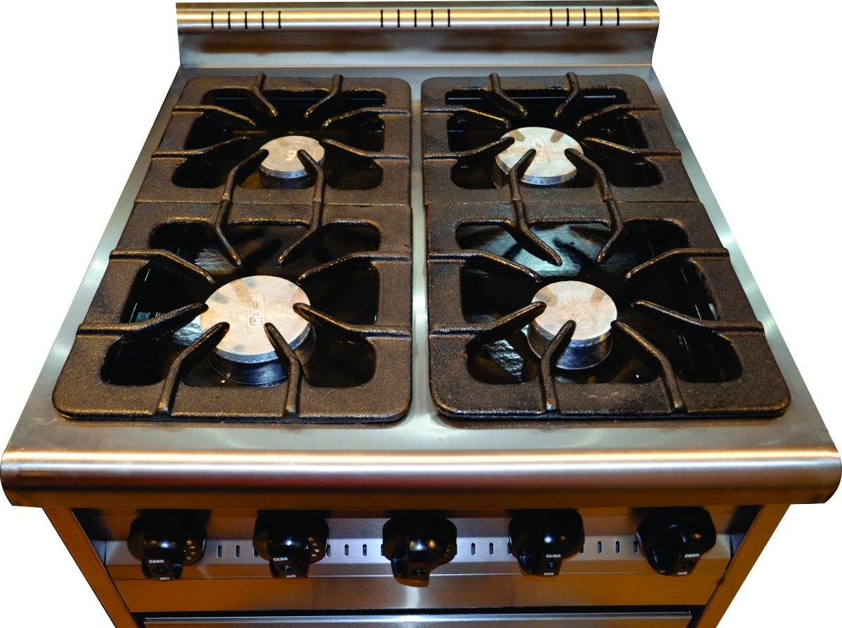 Cocina Industrial Familiar Tecno 4h 60cm Visor C Grill   2164900 en Mercado Libre