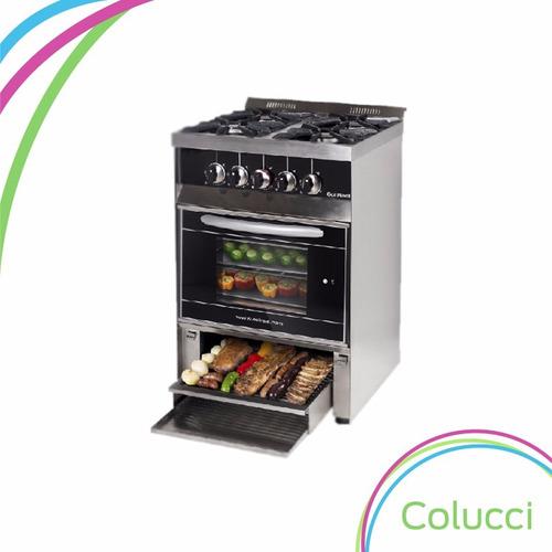 Cocina Industrial Sol Real 4 Hornalla 58cm Parrilla