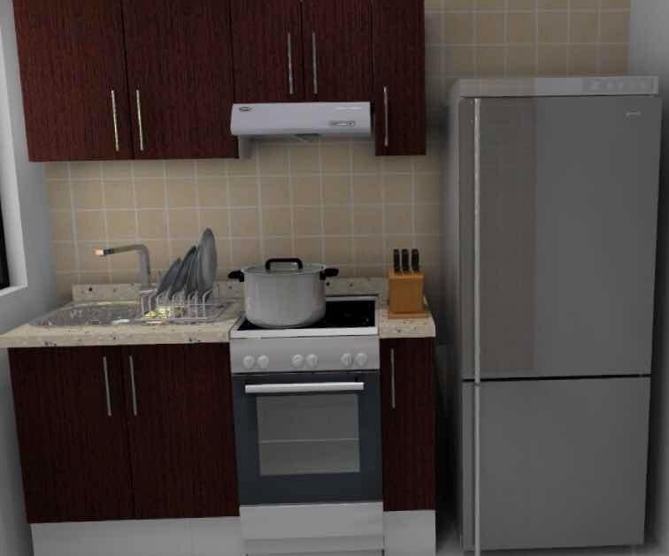 Cocina Integral Modular Mdf Cubierta De Granito   9900
