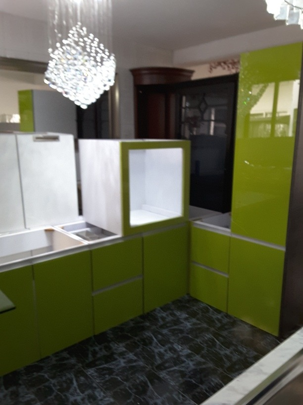 Cocina Integral Verde Sin Tarja   1000000 en Mercado Libre