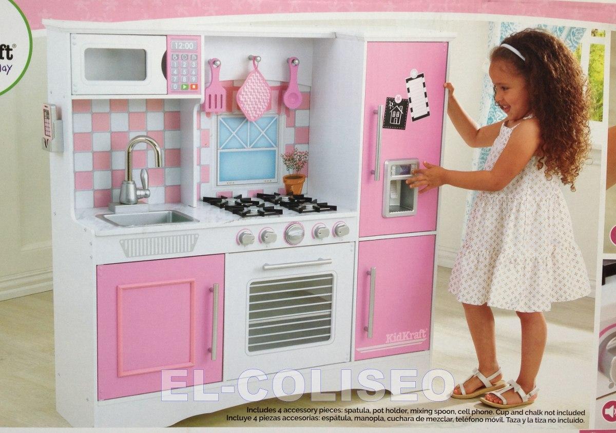 Cocina Kidkraft Integral En Madera Para Nia Con